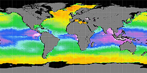 Sea surface density, March 2014