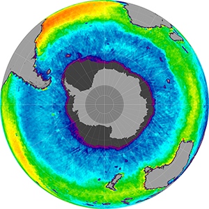 Sea surface salinity in the Southern Hemisphere, April 2015