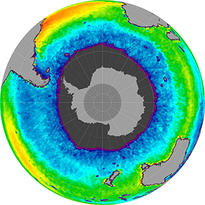 Sea surface salinity in the Southern Hemisphere, July 2014