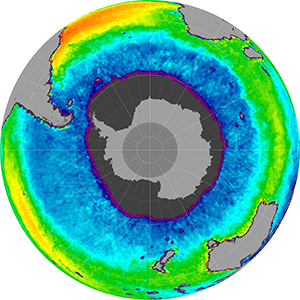 Sea surface salinity in the Southern Hemisphere, June 2012