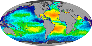 Global sea surface salinity, May 2012