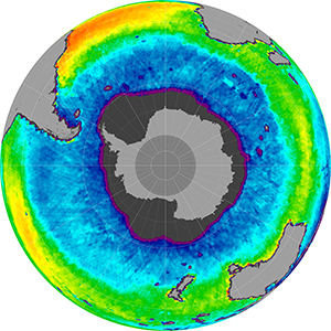 Sea surface salinity in the Southern Hemisphere, May 2013