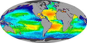 Global sea surface salinity, May 2014