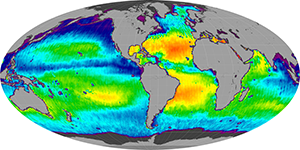Global sea surface salinity, November 2011