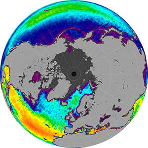 Sea surface salinity in the Southern Hemisphere, November 2011