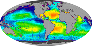 Global sea surface salinity, November 2012