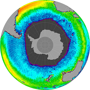Sea surface salinity in the Southern Hemisphere, September 2013
