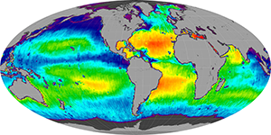 Global sea surface salinity, September 2014