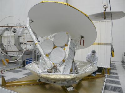 Aquarius instrument in JPL Clean Room