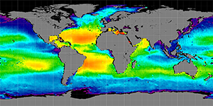 Global sea surface salinity, May 2012-2015