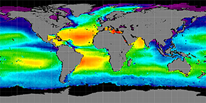Global sea surface salinity, Summer 2011-2014