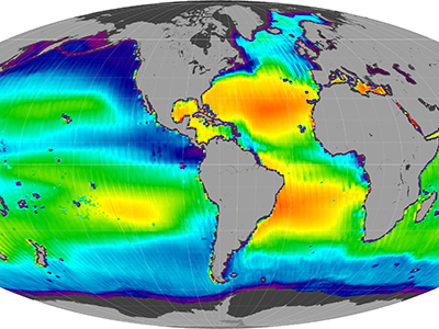 Composite image of sea surface salinity (ascending)