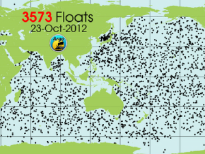Argo float locations (October 2012)