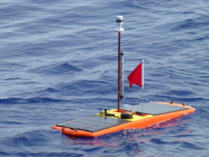 Wave glider deployed from the R/V Knorr