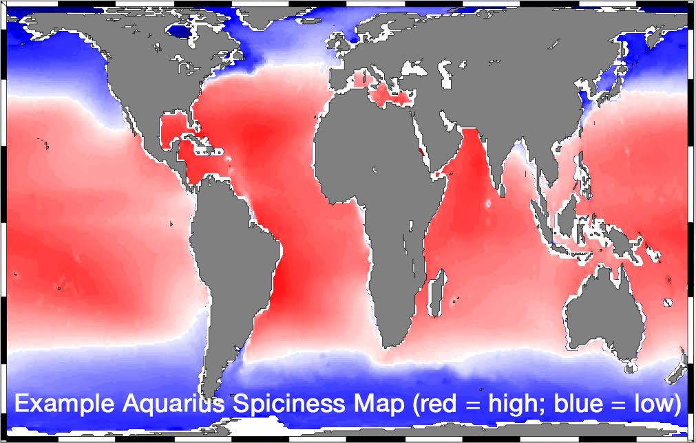 Example Aquarius spiciness map
