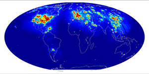 Global scatterometer percent rfi, January 2015