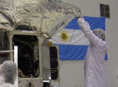 Checking the fit of the Aquarius instrument sunshade