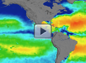 Aquarius Sea Surface Salinity, 2011-2015 (Flat Map)
