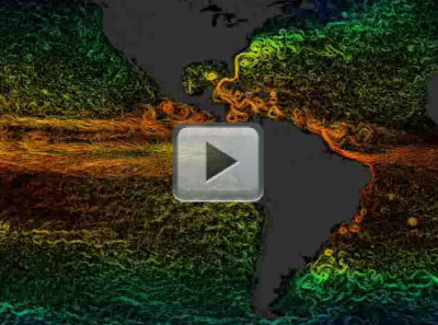 Temperature and Surface Currents: Atlantic & Eastern Pacific Ocean