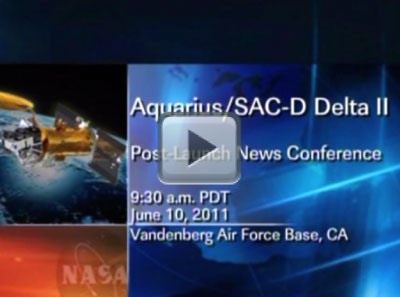 Aquarius/SAC-D Delta II Post-Launch News Conference (UStream)